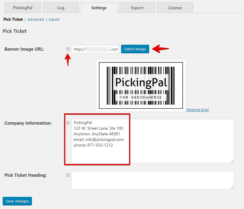 PickingPal Settings: Pick Ticket configuration
