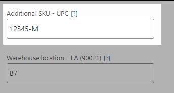 pickingpal: assign value to upc additional sku field